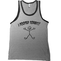 I Pooped Today Mens Tank Top - fathers day gift funny tee humor tshirt stick figure dad shirt college