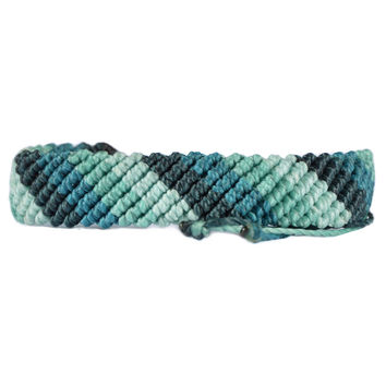 Wide Macrame Braided Bracelet High Tides