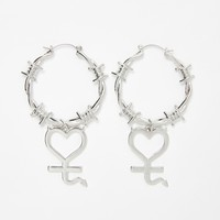 Risky Heart Barbed Wire Earrings