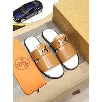 Hermès  Men Fashion Boots fashionable Casual leather Breathable Sneakers Running Shoes