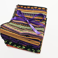 Halloween Party Napkins / Favors Cotton with Stylish Black Rolled Hem, Lunchbox, Everyday, and Halloween Reusable Napkins... Ready to Ship
