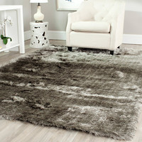 Safavieh Paris Shag Silver Area Rug