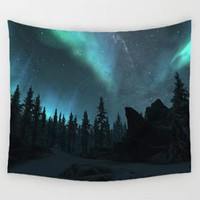 Amazing Night Sky Northern Lights Wall Hanging Tapestry
