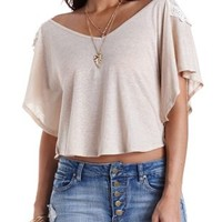 Embroidered Back Poncho Tee by Charlotte Russe