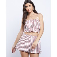Baby Doll Striped Matching Set