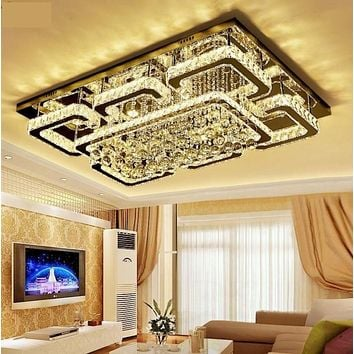 Luxury Crystal Dimmable Ceiling Light Chandelier