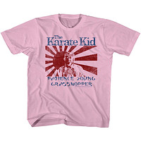 The Karate Kid Kids T-Shirt Wax On Wax Off Mr Miyagi Pink Tee