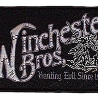 SUPERNATURAL TV Series Winchester Brother Logo PATCH