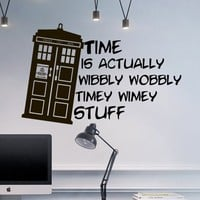 Wall Decal Doctor Who Tardis Quote Time Travels Mural Sticker Decor Art Police Box Gift Dorm Bedroom M1626