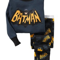Old Navy DC Comics Batman PJ Sets For Baby Size 18-24 M - Batman shield