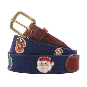 Christmas Cookies Needlepoint Belt by Smathers & Branson