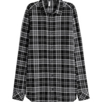Checked Cotton Shirt - from H&M