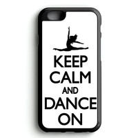 Keep Calm and Dance On Black White iPhone 4s iphone 5s iphone 5c iphone 6 Plus Case | iPod Touch 4 iPod Touch 5 Case