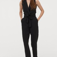 Sleeveless Jumpsuit - Black - Ladies | H&M US