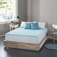 "Spa Sensations Zoned Fusion Gel Memory Foam 1"" Mattress Topper  - Walmart.com"
