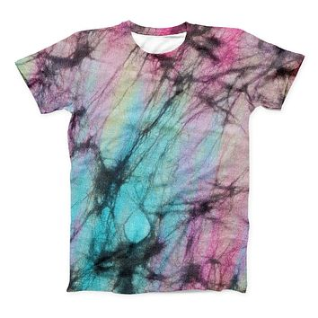 The Fibrous Watercolor ink-Fuzed Unisex All Over Full-Printed Fitted Tee Shirt