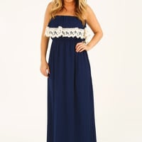 Find Your Harmony Dress: Navy
