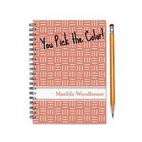 Weekly planner, custom planner, personalized daily calendar, 12 month scheduler, custom gift, customizable planner book, SKU: pl hatches