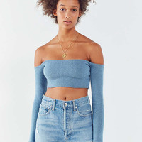 KYE Off-The-Shoulder Cropped Sweater | Urban Outfitters