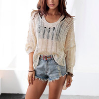 Summer Hot Beach Sexy Swimsuit New Arrival Women's Fashion Crochet Tops Pullover Knit Bikini [4919467524]