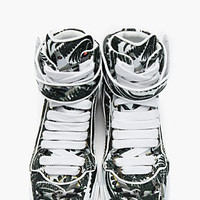 Givenchy Green Paisley Print Hightop Sneakers for men   SSENSE