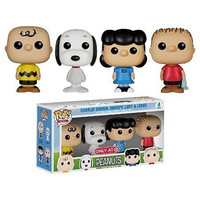 Pop MinisPeanuts Exclusive Funko, Charlie Brown, Lucy, Snoopy & Linus