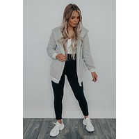 A Little Chilly Jacket: Grey/White