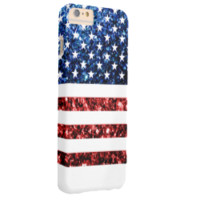 USA flag red blue sparkles iPhone 6 Plus case
