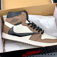 Bunchsun Air Jordan 1 x Travis Scott joint retro high-top basketball shoes