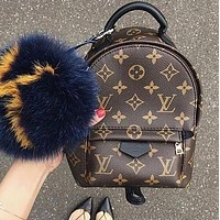 LV Louis Vuitton Women Casual Daypack School Bag Cowhide Leather Backpack bag