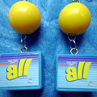 SALE Vintage Barbie Laundry Detergent Earrings