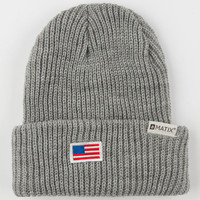 Matix Lincoln Beanie Heather Grey One Size For Men 24405213001