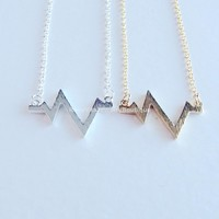 Heartbeat Necklace - Gold & Silver