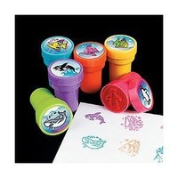 Ocean Life Stamps Birthday Party Supplies Loot Bag Accessories 24 Pieces per Unit