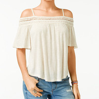 American Rag Off-The-Shoulder Short-Sleeve Top, Only at Macy's - Juniors American Rag - Macy's