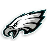 "Philadelphia Eagles 12"" Logo Car Magnet"