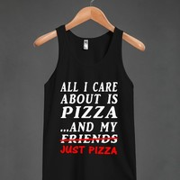 just pizza wht/blk - glamfoxx.com - Skreened T-shirts, Organic Shirts, Hoodies, Kids Tees, Baby One-Pieces and Tote Bags