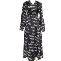 Black FENDI Womens Long Dress