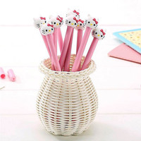 Hello Kitty Pen, Cute White Cat, Pink Bow, Kawaii Stationary