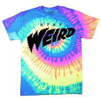 STAY WEIRD Tie Dye T-Shirt