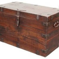 One Kings Lane - Tenango - Satin Dutch Trunk, Dark Brown