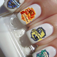 Harry Potter House nail decals tattoos nail art