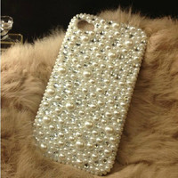 Pearl iPhone 6 case iPhone 6 plus case Bling iPhone 5 case crystal iPhone 5s case iPhone 5c case pearl samsung galaxy s3/s4/s5/note4 case