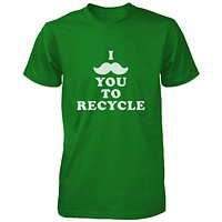 I Mustache You To Recycle Shirt Unisex Earth Day T-shirt Funny Graphic Tee
