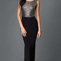 Low Back Long Black Prom Dress with Train