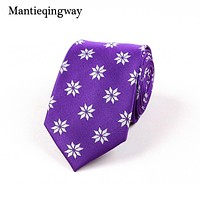 Polyester Floral Printed Necktie Ties For Wedding Casual And Business Gravatas Fashion Neckties Tie For Men