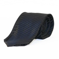 "Taylor and Wright Neck Tie 2 3/4"" width - Black Textured"