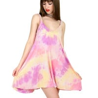 SUNSET TIE DYE DRESS