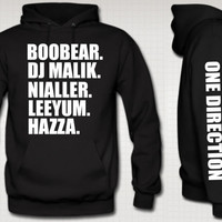 i love one direction HOODIE niall zayn liam louis harry boys nick name 1d