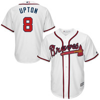 Justin Upton Atlanta Braves Majestic Official Cool Base Authentic Collection Player Jersey – White